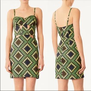 Topshop Geometric Cut Out Cupped Dress